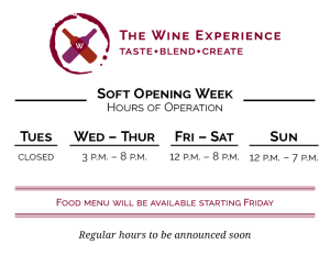 Soft Opening Week Hours