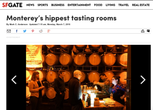 "One of Monterey's ""hippest tasting rooms"""